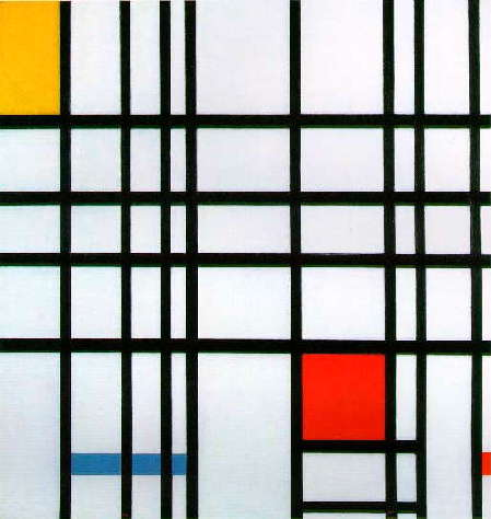 Composition with Red, Yellow and Blue (1921) - Piet Mondrian
